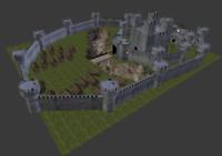 3d model medieval castles