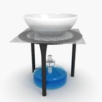 alcohol burner 3d model