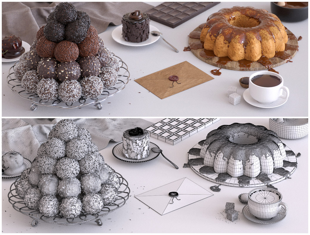 3d sweets model