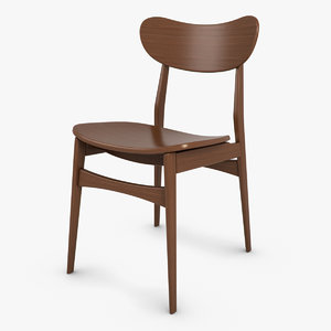 3d oval chair
