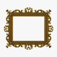 Baroque Picture Frame 3D Model