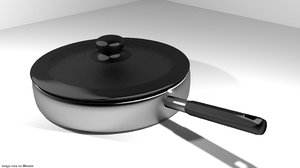 3d cook cookware pan model