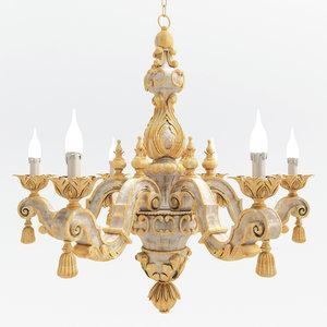 chandelier chelini 3d model