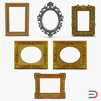 Baroque Picture Frames 3D Models Collection