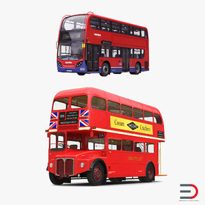 london buses bus 3d model