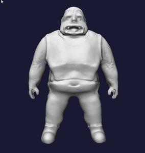 3d model troll fat