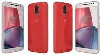 3d model of motorola moto g4 red