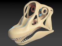 3d max brachiosaurus skull