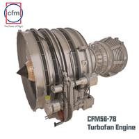 cfm56-7b engine complete c4d