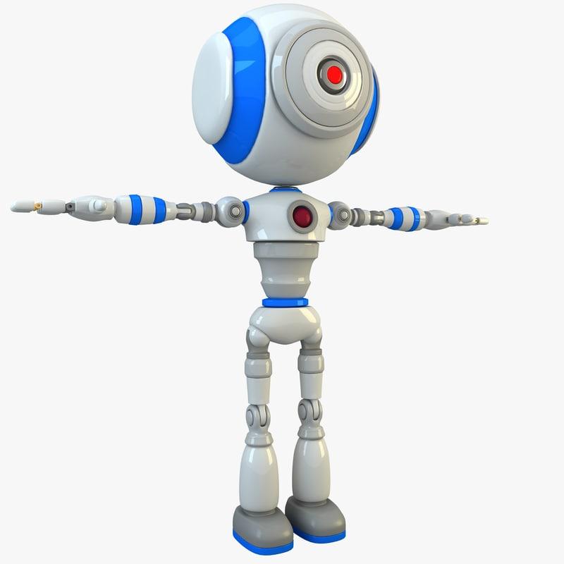 3d model robot modelled
