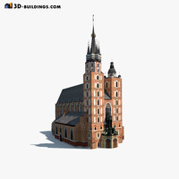 Church St.Maria. Low  poly model