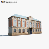 neoclassical building exterior 3ds