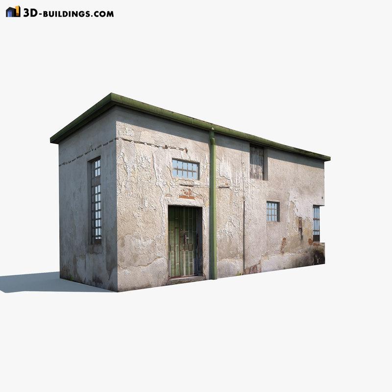 3d model of derelict building exterior