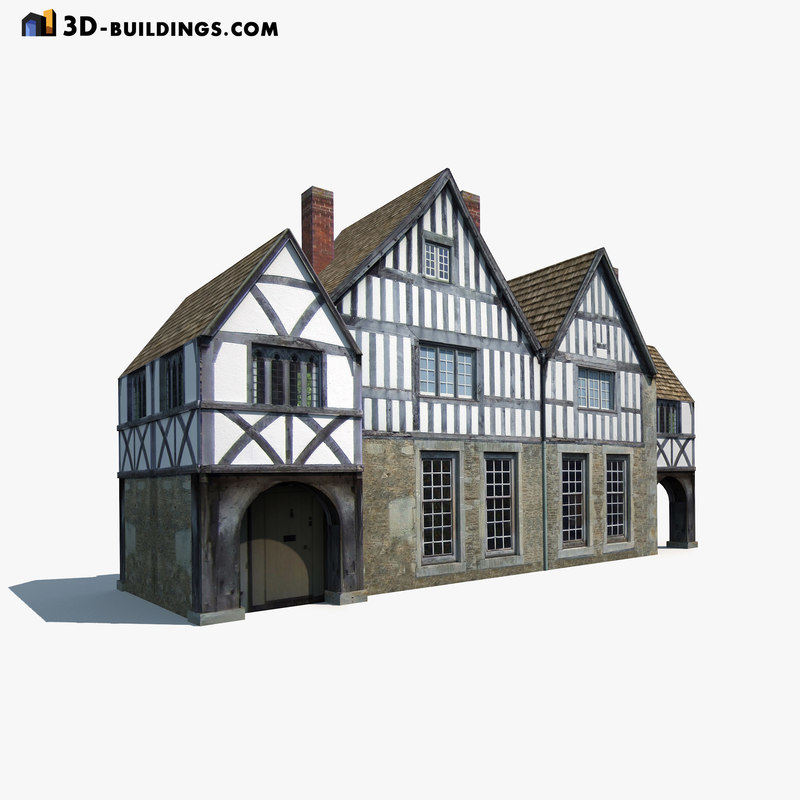 3d model building exterior modelled