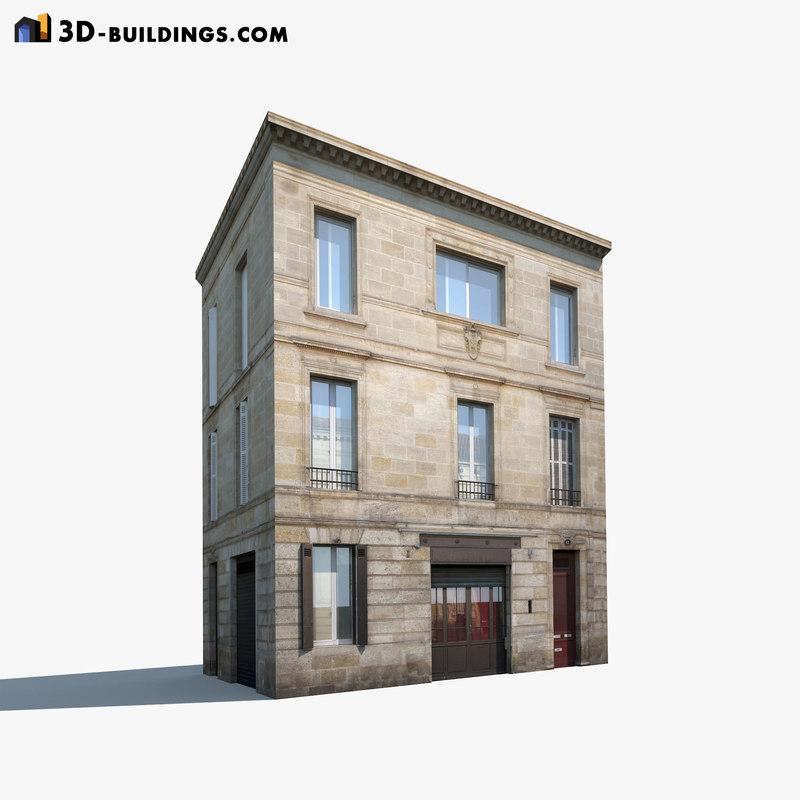 old building modelled 3d max