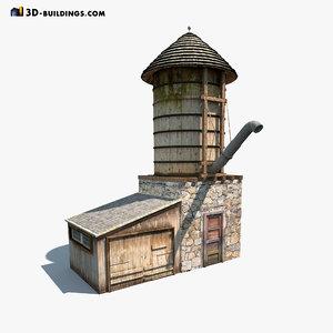 3d water tank model