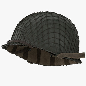 3d model wwii m1 helmet