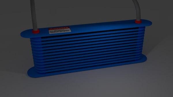3d oil cooler model