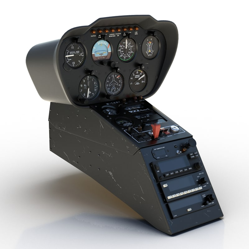 light helicopter control panel 3ds
