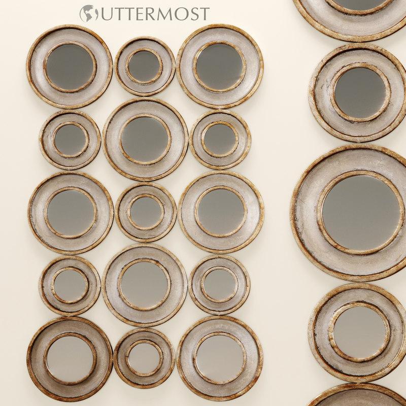 3d model vobbia metal circles mirror