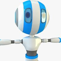 robot modelled 3d max