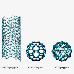 3d molecular structure model