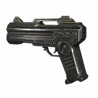 3d original scifi pistol concept