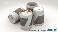 3ds audi coffee cup