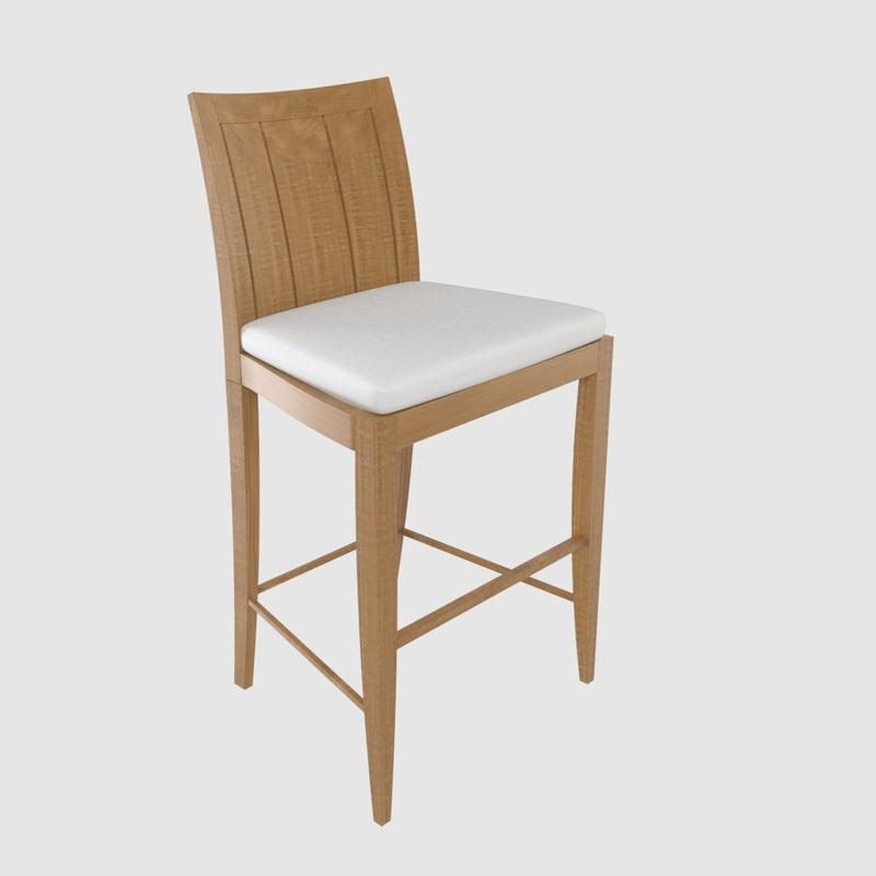 summit lg 319 bar chair 3d model