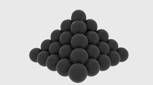 3d model of cannonball cannon ball
