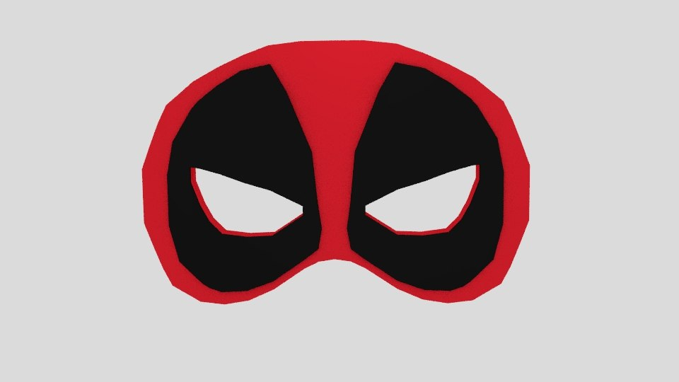deadpool prom mask obj