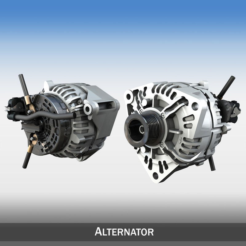 alternator engines 3d model