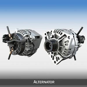 alternator engines 3d model