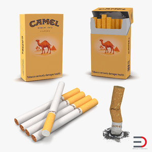 3d cigarettes camel model