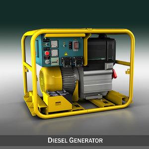 3d generator diesel model