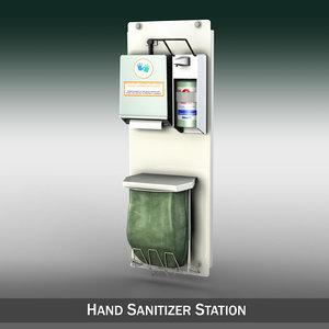 3d hand dispenser model