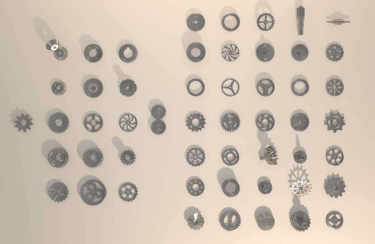 3d model gears
