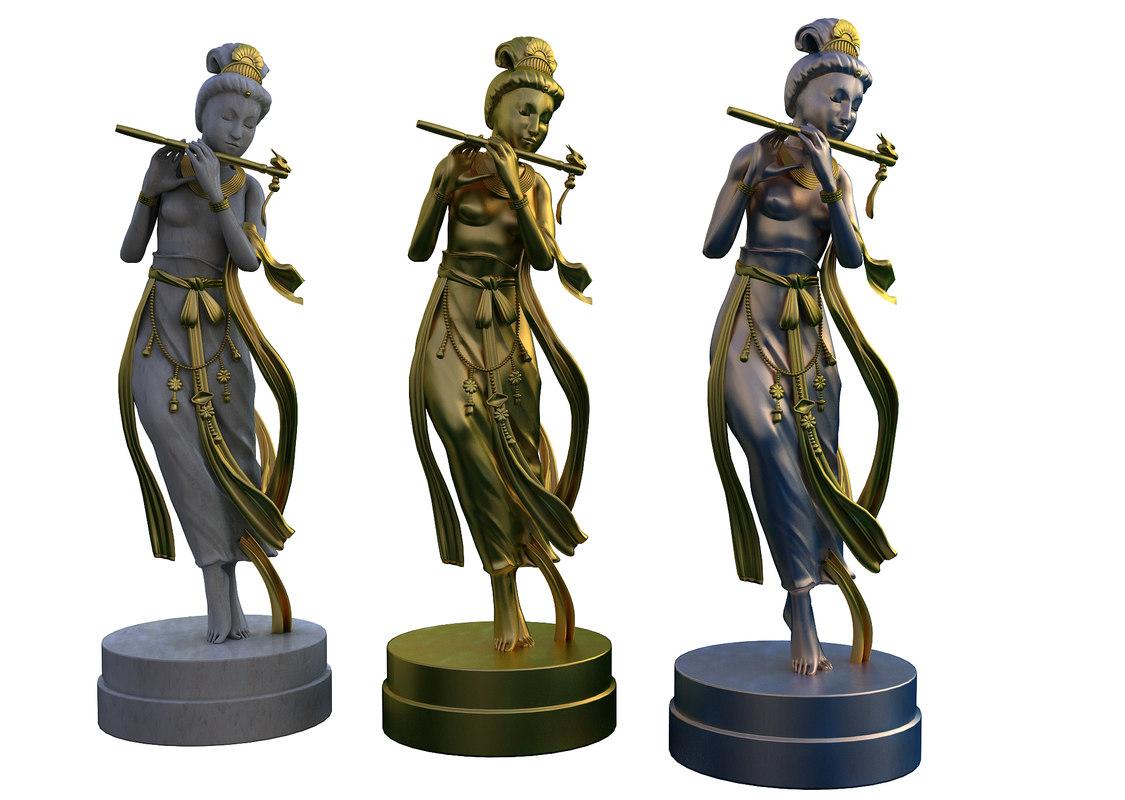 3d model marble bronze silver