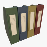 3d office binders model