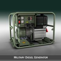 Military diesel generator