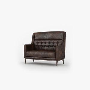 vintage leather sofa 3d max