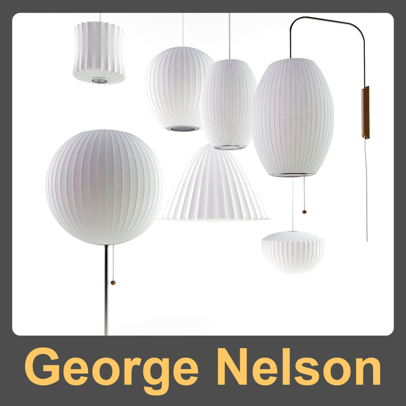3d bell lamp nelson george model