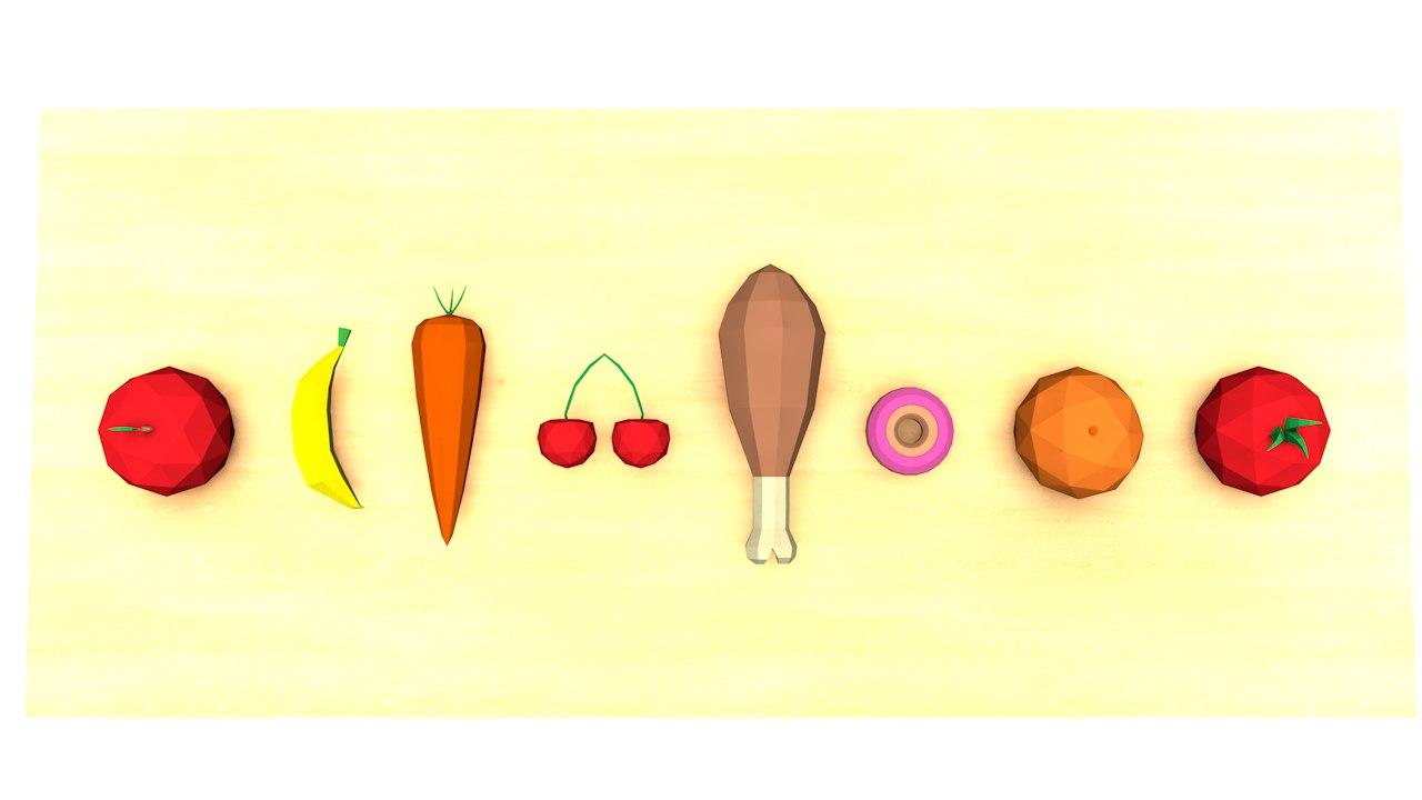 3d 8 foods