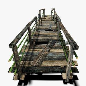 old plank bridge 3d max