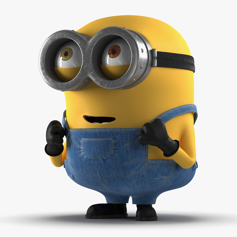 3d 3ds short eyed minion pose