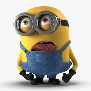 short eyed minion pose 3ds