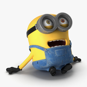 short eyed minion pose 3d 3ds