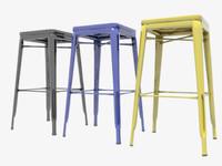 3d model stool bar tolix