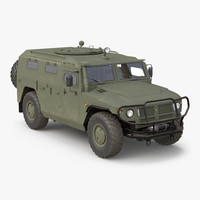 Russian Mobility Vehicle GAZ Tigr M