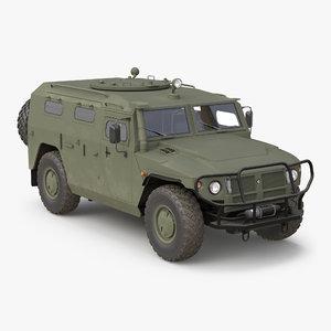 3d model russian mobility vehicle gaz